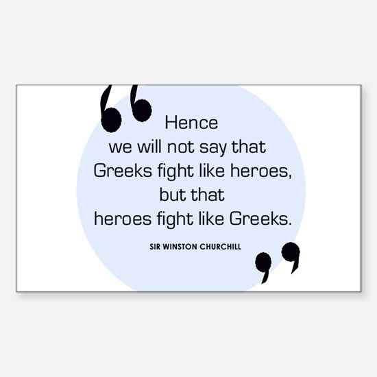 Greek Heroes Rectangle Decal