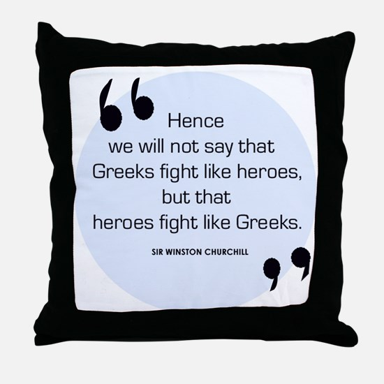 Greek Heroes Throw Pillow