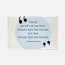 Greek Heroes Rectangle Magnet