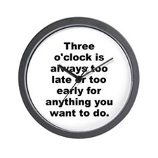 Cool Always late Wall Clock