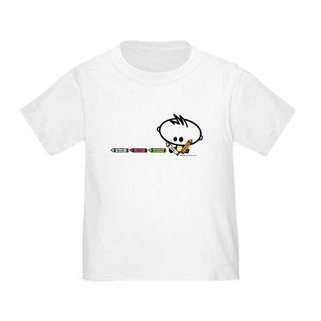 Quirky Crayons Kid Toddler T-Shirt