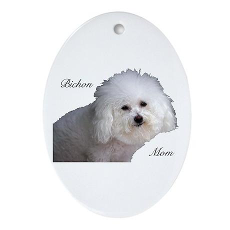 Bichon Mom Oval Ornament
