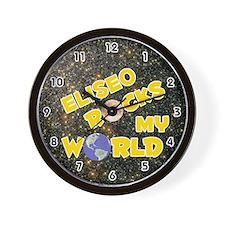 Eliseo Rocks My World (Gold) Wall Clock