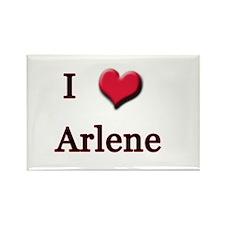 I Love (Heart) Arlene Rectangle Magnet
