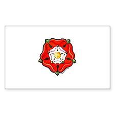 Single Tudor Rose Rectangle Decal