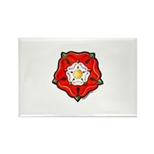 Single Tudor Rose Rectangle Magnet