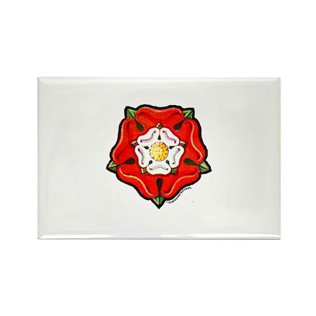 Single Tudor Rose Rectangle Magnet