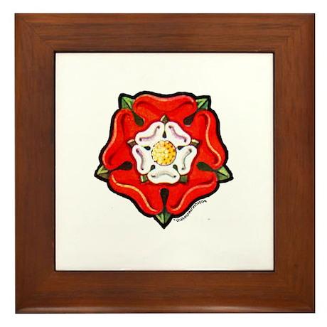 Single Tudor Rose Framed Tile