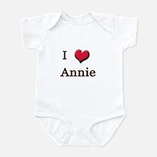 I Love (Heart) Annie Onesie