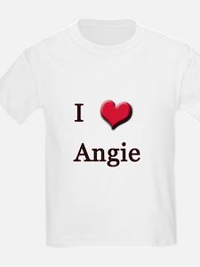 I Love (Heart) Angie T-Shirt