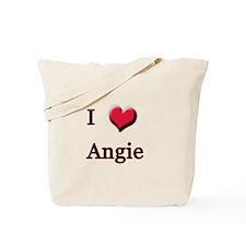 I Love (Heart) Angie Tote Bag