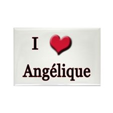 I Love (Heart) Angelique Rectangle Magnet