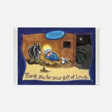 Thank You Baby Jesus Rectangle Magnet (10 pack)