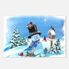 Snowman with Birds Postcards (Package of 8)