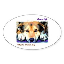 Save a Life - Adopt a Shelter Oval Decal