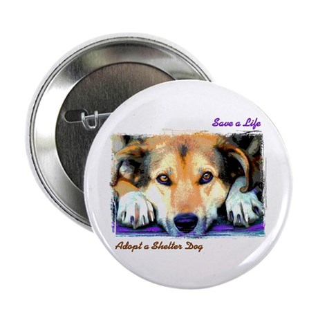 "Save a Life - Adopt a Shelter 2.25"" Button (10 pac"