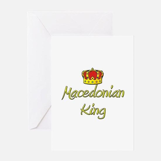 Macedonian King Greeting Card