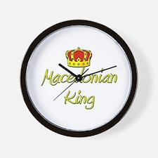 Macedonian King Wall Clock