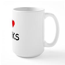 I <3 Dorks Ceramic Mugs