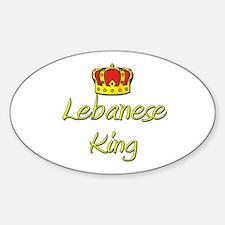 Lebanese King Oval Decal