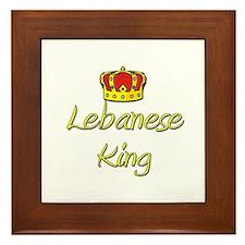 Lebanese King Framed Tile