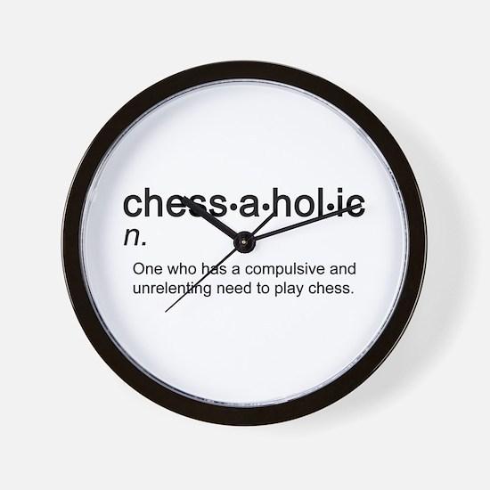 Chess Chessaholic Wall Clock