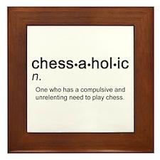 Chess Chessaholic Framed Tile
