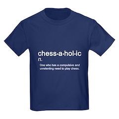 Chess Chessaholic Kids Dark T-Shirt