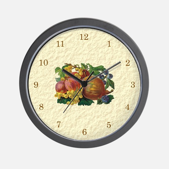Fancy Fruits Wall Clock
