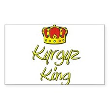 Kyrgyz King Rectangle Decal