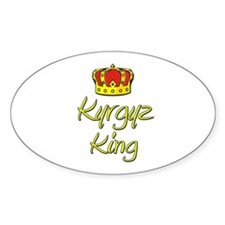 Kyrgyz King Oval Decal