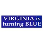 Virginia is turning Blue (bumper sticker)