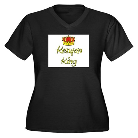 Kenyan King Women's Plus Size V-Neck Dark T-Shirt
