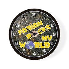 Fabian Rocks My World (Gold) Wall Clock