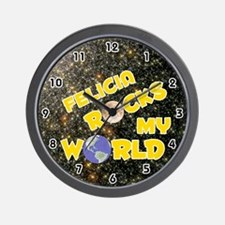 Felicia Rocks My World (Gold) Wall Clock