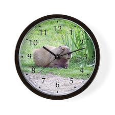 Capybara Laying Down Wall Clock