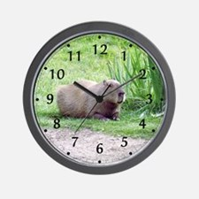 Capybara Laying Down Wall Clock