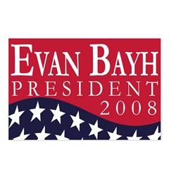 Evan Bayh for President 2008 (8 Postcards)