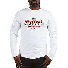 Hot Girls: Superior, IA Long Sleeve T-Shirt