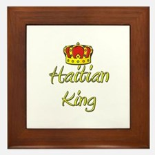 Haitian King Framed Tile
