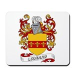 Leonard Coat of Arms Mousepad