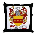 Leonard Coat of Arms Throw Pillow
