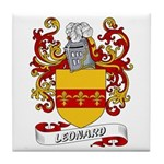 Leonard Coat of Arms Tile Coaster