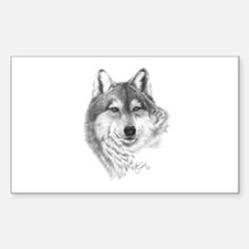 Gray Wolf Rectangle Decal