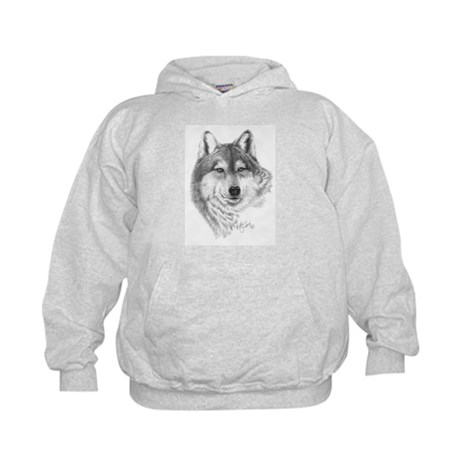 Gray Wolf Kids Hoodie