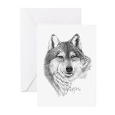 Gray Wolf Greeting Cards (Pk of 20)