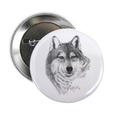 """Gray Wolf 2.25"""" Button (10 pack)"""