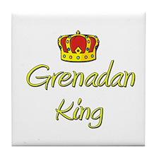 Grenadan King Tile Coaster