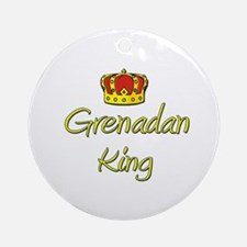 Grenadan King Ornament (Round)