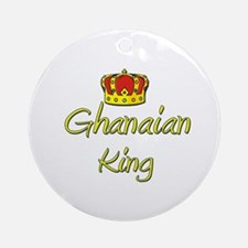 Ghanaian King Ornament (Round)